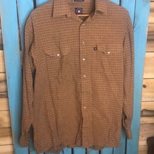 Panhandle Slim western pearl snap plaid shirt L